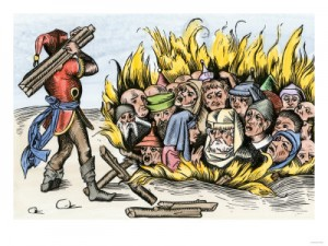 jews burning