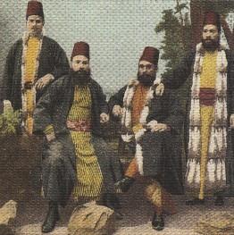 Ottoman Jews, wearing fezes